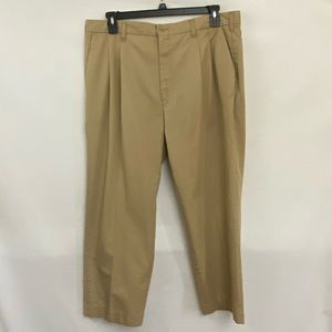 Men's Cintas Pleated Khaki Pants Size 40x28 R-55